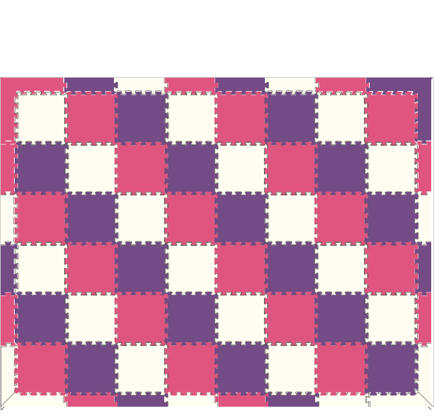 D110 Purple/Pink/White Using SoftTiles 1x1 6x8