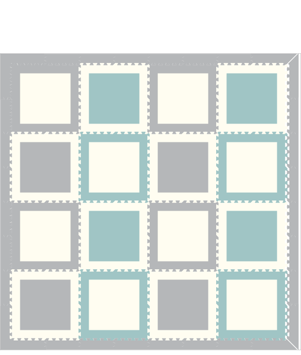 M11- Light Blue, Light Gray, White Squares 8x8