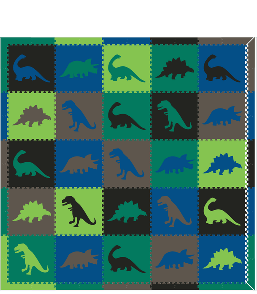 M135-Dinosaurs Black, Blue, Lime, Green, Gray 10x10