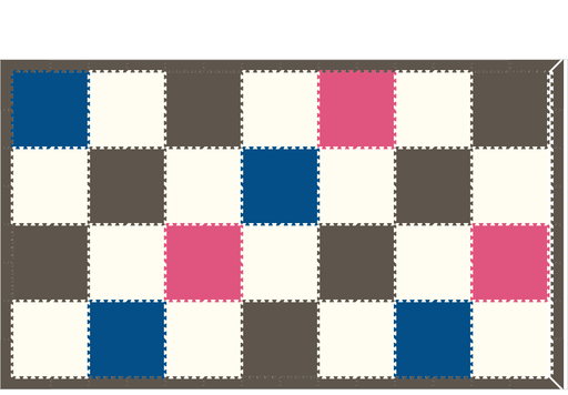 M560- Solids Blue, Pink, White 8x14