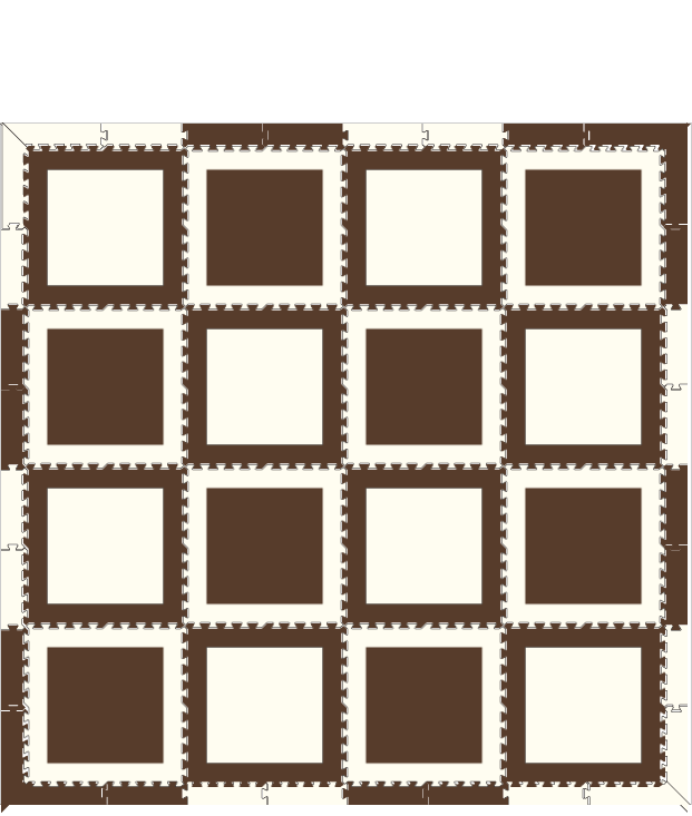 M12- Brown White Squares 8 x 8