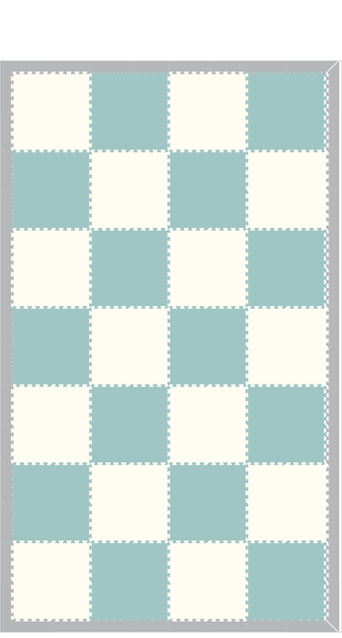M647 - Solids Light Blue and White 8x14