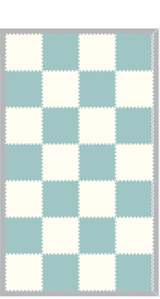 M647- Solids Light Blue and White 8x14