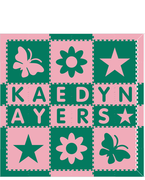 Kaedyn Ayers Green Light Pink 6x6