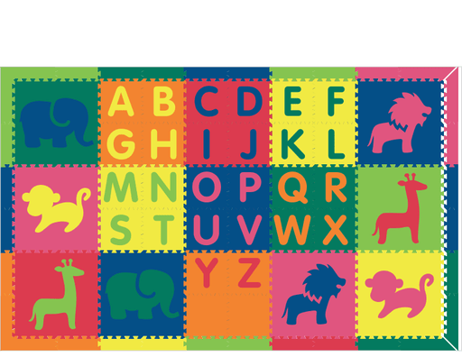 M710- Alphabet Safari Colorful 6x10