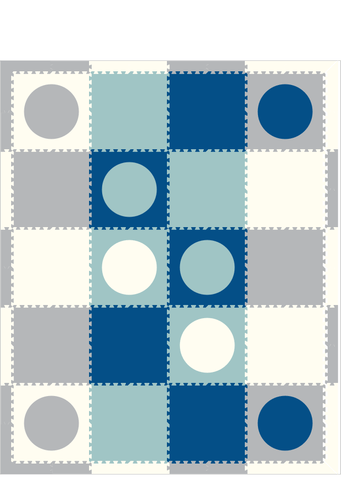 M248- Lt Gray, Lt Blue, White, and Blue Circles 8x10