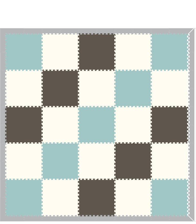 M499- Solids Gray, Light Blue, White 10x10