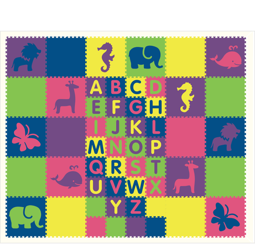 M84- Colorful Animals with ABC's 10x12