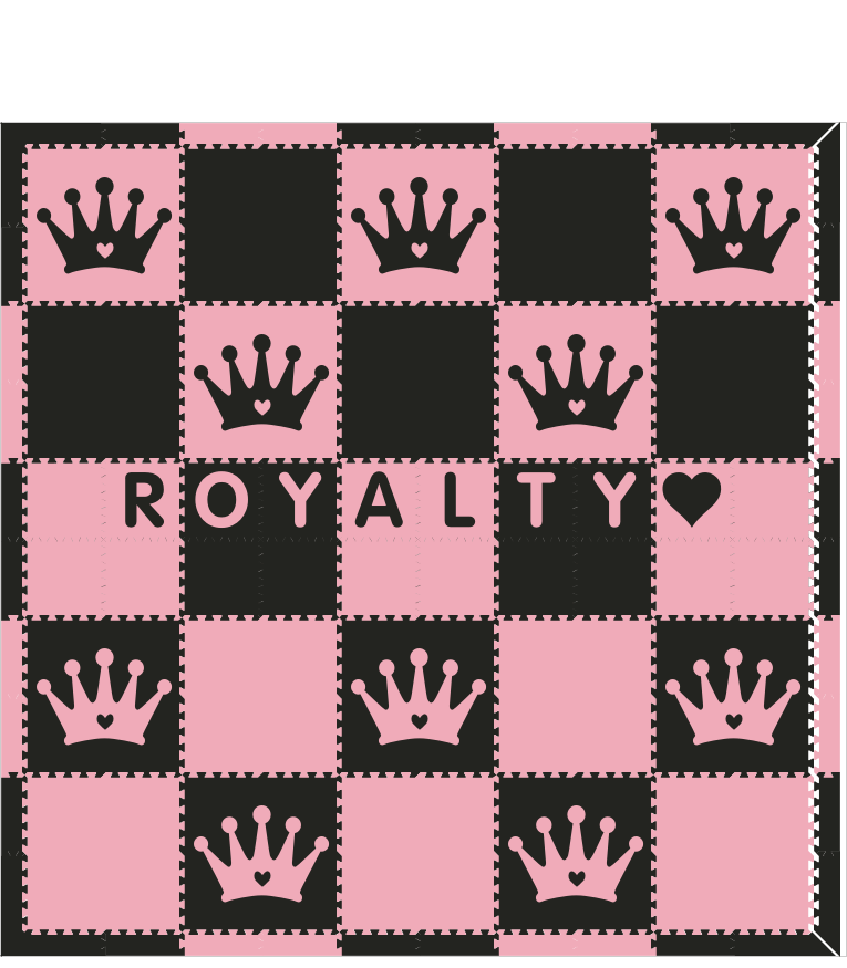 Royalty Black Light Pink 10x10