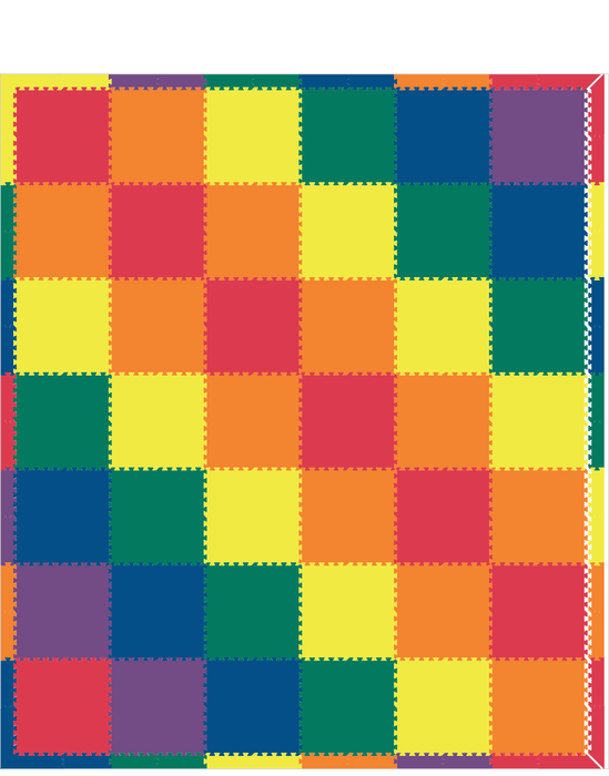 M494- Solids Rainbow 12x14