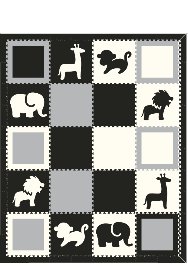 Safari and Squares V2 8x10