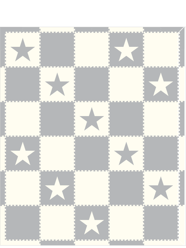 M268- White and Lt Gray Stars 10x12