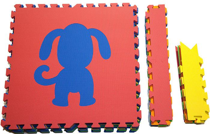 SoftTiles Foam Mats with Sloped Borders- Puppy Dog Theme