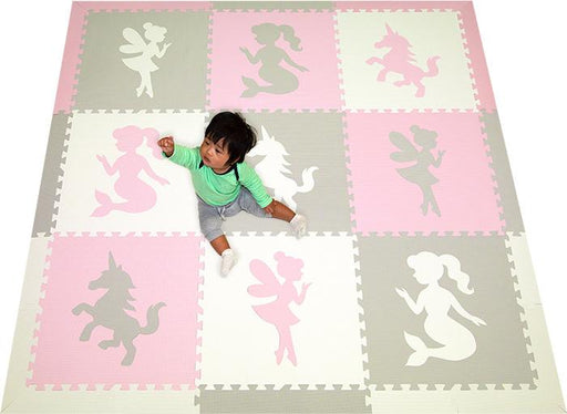 SoftTiles Fairy Mermaid Unicorn Girls Foam Play Mat
