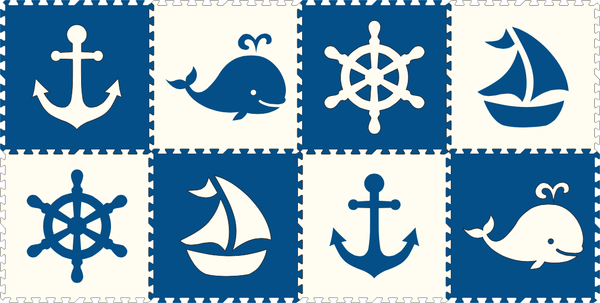 Nautical Play Mats Puzzle Foam Floor Mat Softtiles