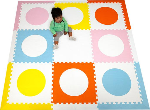SoftTiles Colorful Circles Foam Play Mat