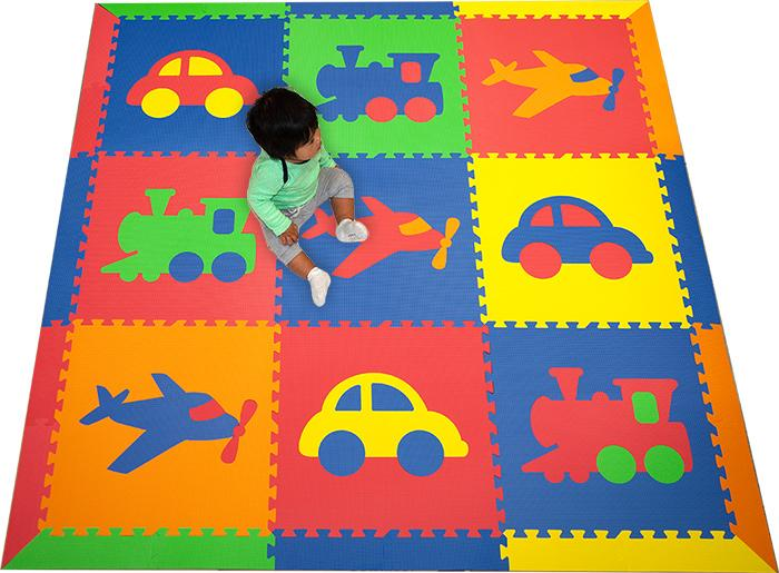 SoftTiles Transportation Theme Colorful Kids Play mat