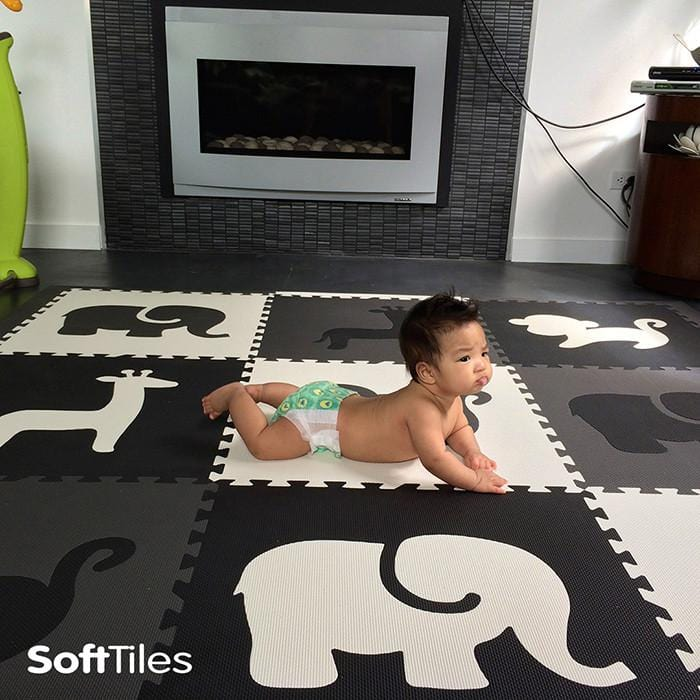 SoftTiles Safari Animals Foam Playmat Used on Tile Floors
