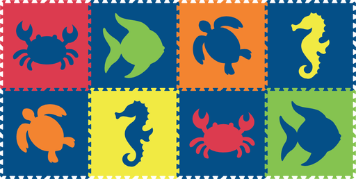 SoftTiles Sea Animals 8 Piece Sets (Click for Variations)