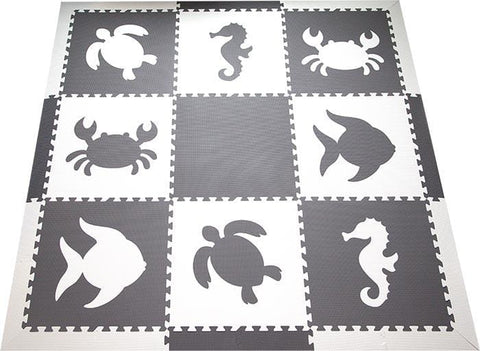 SoftTiles Sea Animals Set with Borders Black and White