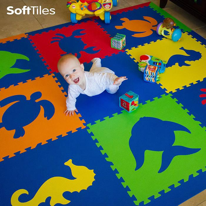 Baby Play Mat- SoftTiles Sea Animals Themed Foam Mats