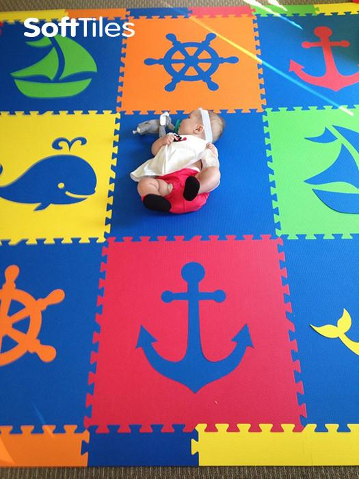 Baby Play Mat- SoftTiles Nautical Theme Foam Mats