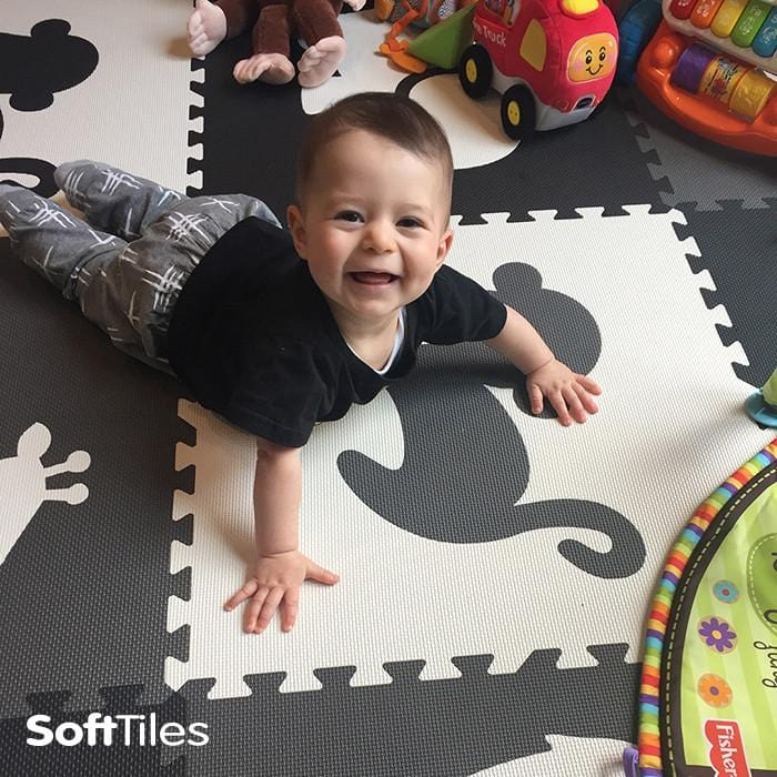 SoftTiles Safari Animals Foam Playmat fun for kids and babies