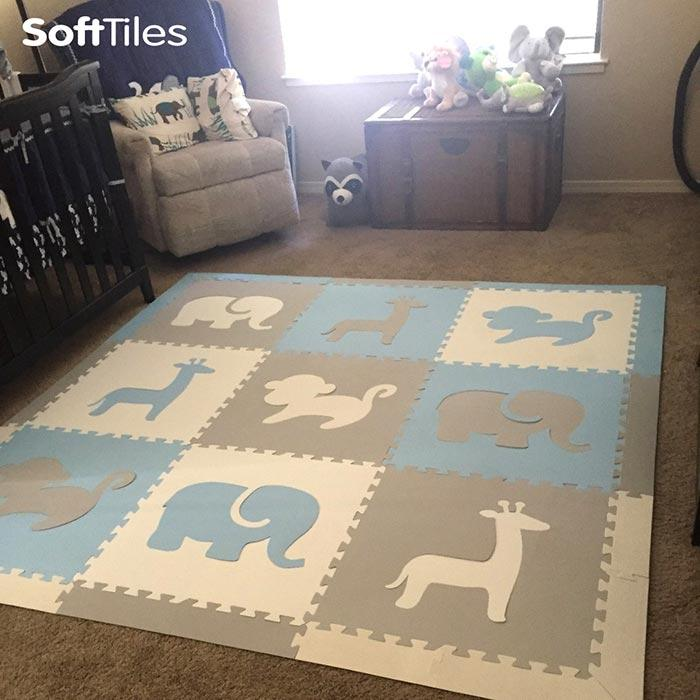 Flooring for Nursery- SoftTiles Safari Animals Foam Play Mat