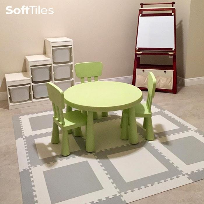 Playroom/Nursery Flooring- SoftTiles Squares Designer Foam Mats
