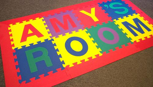 Spell Your Name Foam Mats (Random Colored Alphabet)