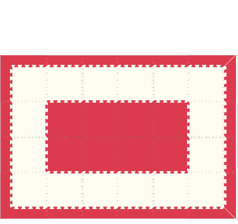 D134 Red and White Mat 4x6