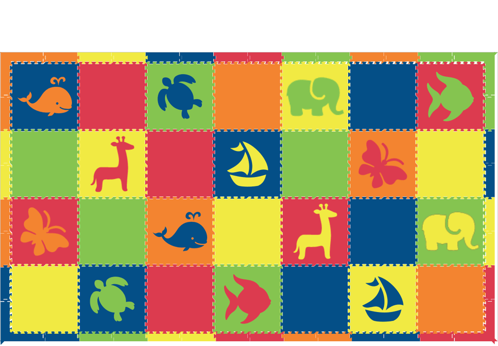 D172- Colorful Mixed Animal Mats