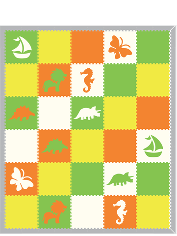 D189- Mixed Shape Play Mat 10x12