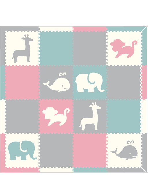 M210- Lt Blue, Lt Pink, Lt Gray, White Safari/ Nautical 8x8