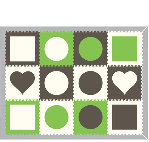 M25- Geometrics Lime, Gray, White 6 x 8