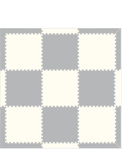M402- Solid Light Gray and White 6x6
