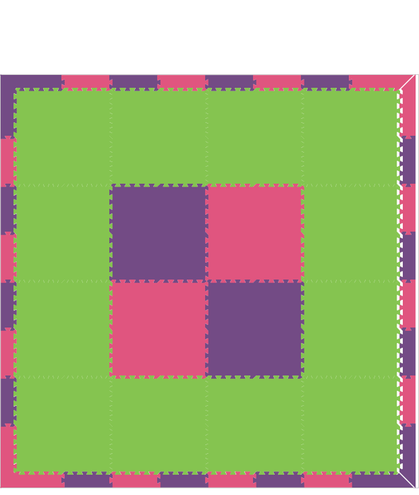 D100- Purple Pink Lime 8x8
