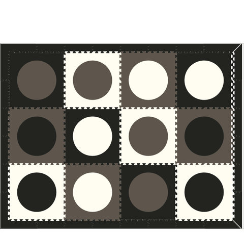 D130 Black and White Circles 6x8