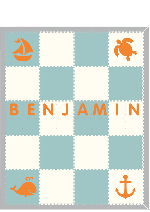 D181- Benjamin Custom Play Mat with Name 8x10