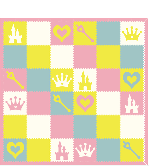 M347- Princess White, Lt. Pink, Lt. Blue, Yellow 12x12
