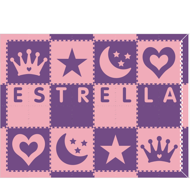 Estrella Purple Light Pink 6x8