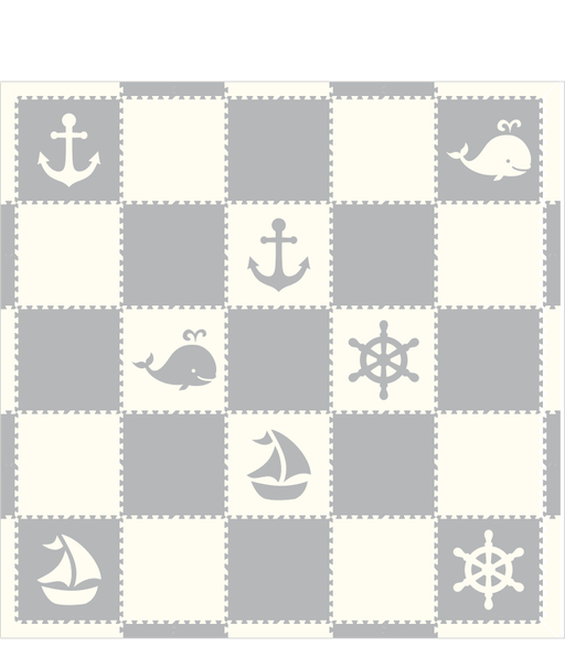 M667- Nautical Light Gray and White 10x10