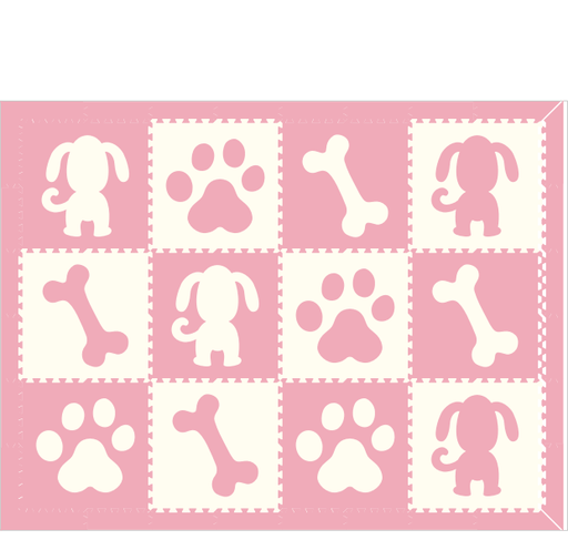 M24- Puppy Light Pink & White 6 x 8