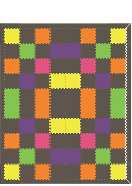 M119- 1x1's colorful pattern 8x10
