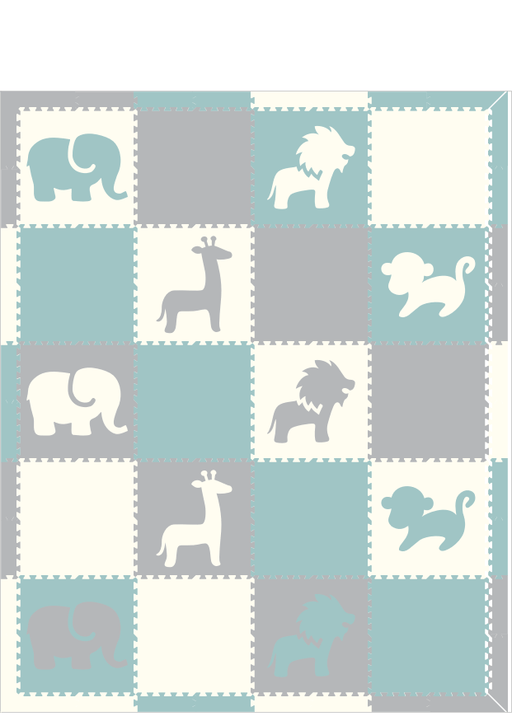 D187- Safari White, Light Blue, Light Gray 8x10
