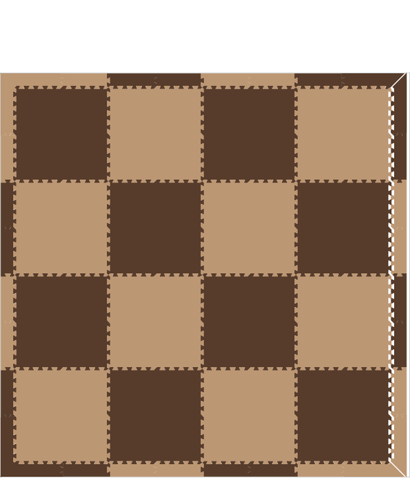 M441- Solid Brown, Tan 8x8