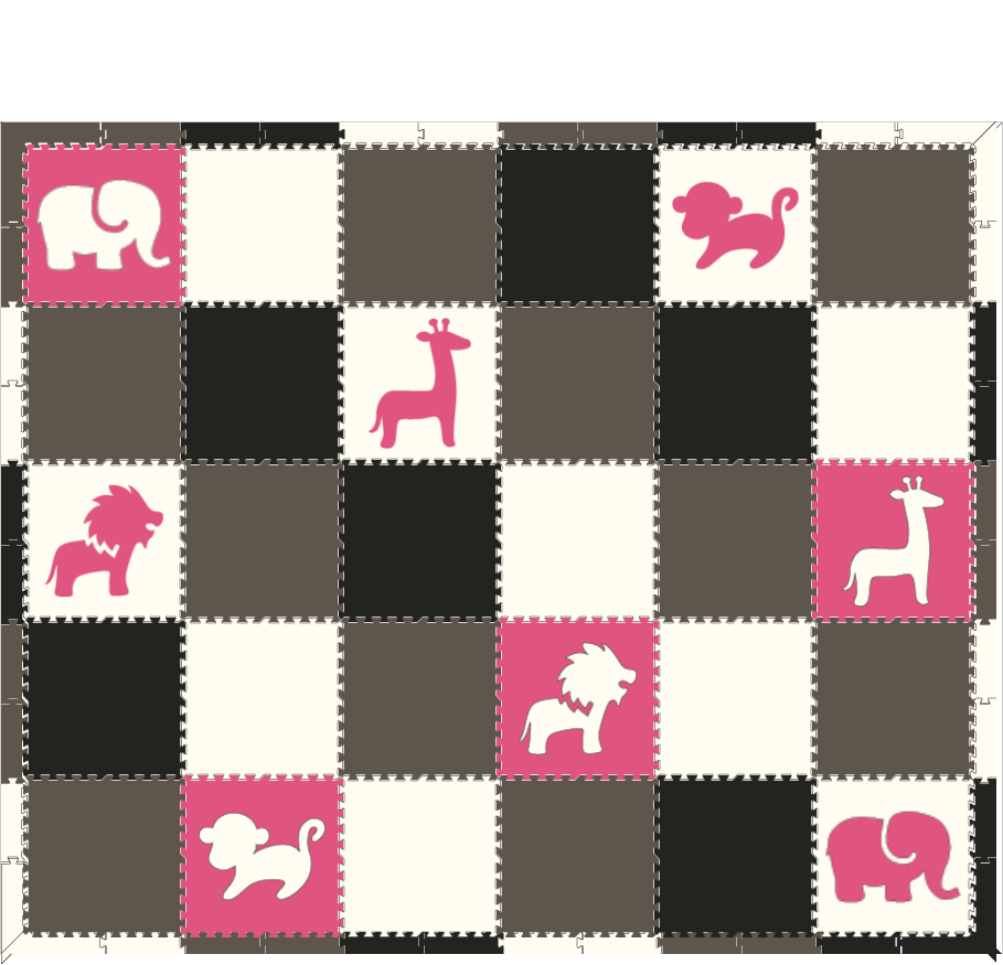 BWG with pink animals