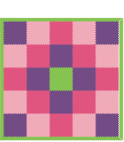 M179- Lt Pink, Dark Pink, Purple, and Lime 10x10