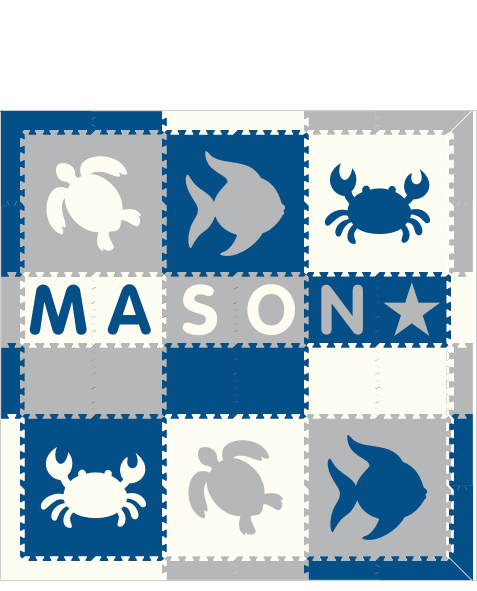 Mason IC Sea Animals BWH 6x6