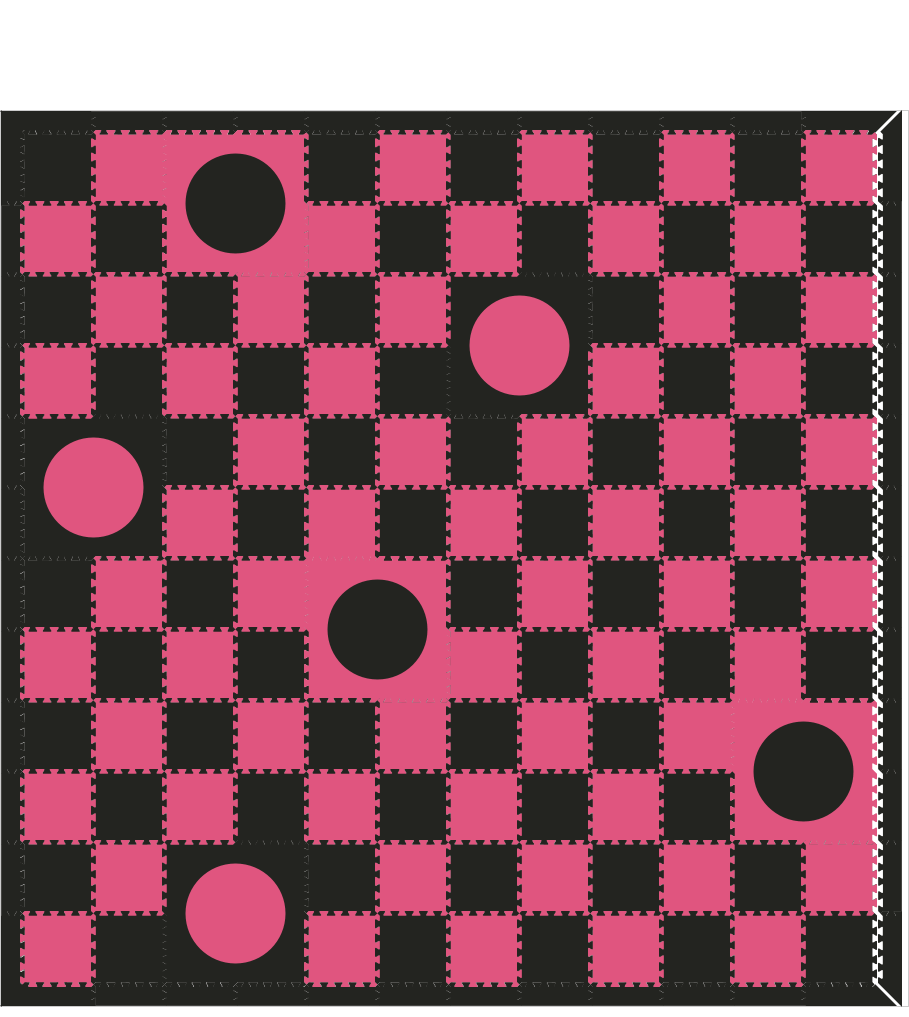 M247-  Black and Pink 1x1's w/ Circles 12x12